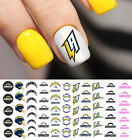 Los Angeles Chargers Football Nail Art Decals - Salon Quality