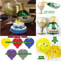 """40"""" Champagne Glass and Bottle Foil Ballon WEIGHT HELIUM Wedding Balloons Party"""