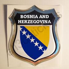 Pegatina Bosnia y Herzegovina Escudo de Armas 3D Emblema Vinilo Adhesivo Resina