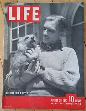 LIFE MAGAZINE AUGUST 30 1943 ANTHONY EDEN & NIPPER BROADWAY PRECISION BOMBING