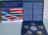 2008 Silver Eagle ASE Dollar Presidential Sacagawea Dollar 6 Coin BU US Mint Set