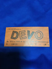 Devo Japan tour ticket stub 1980 Nihon Seinenkan Tokyo techno pop day tripper
