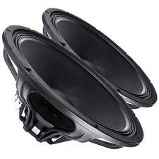 "Pair Faital PRO 18FH500 18"" NEO Subwoofer Speaker 8ohm 1200W 99dB & Bass Guitar"