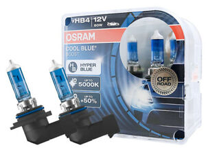HB4 9006 OSRAM Cool Blue Boost (CBB) Halogen Headlight Bulbs 5000K 69006CBB