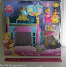 Disney Priness Royal Tea Party Play Set with PVC Figures Sleeping Beauty & Belle