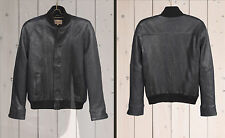 Levis made & crafted Italy LEATHER BOMBER JACKET black Size.3 (Large) NWT/$950
