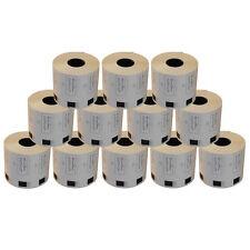 12 REFILL ROLLS DK11209 BROTHER COMPATIBLE SMALL ADDRESS LABELS 29x62mm DK 11209