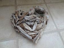 CUORE in legno Portacandele, shabby chic