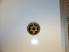 Bottle Cap Magnet Jewish Star of David Black Background New - Hand Made