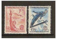 Czechoslovakia - 1955 Sports Games (Skiing) set - MNH - SG 853/4