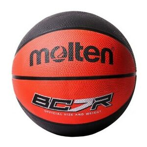 Molten BCR Indoor Outdoor Rubber Basketball Ball Red/Black - Size 6