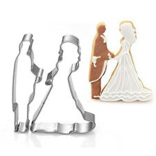Bride Bridegroom Baking Mold Wedding Cake Cookie Fruit Cutter Mould Kitchen Tool
