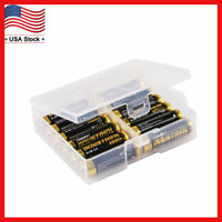 AA Battery Storage Case/Holder/Organizer/Box Clear Plastic For 24 AA Batteries