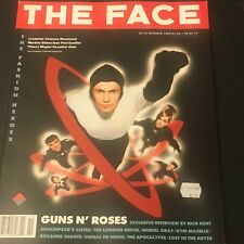 VINTAGE ART/FASHION MAGAZINE THE FACE # 13  OCTOBER 1989 GUNS N ROSES