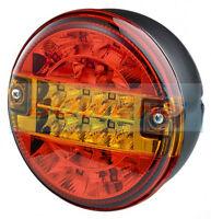 12V/24V LED REAR ROUND HAMBURGER TAIL LAMP LIGHT LORRY TRUCK CAR VAN TRAILER