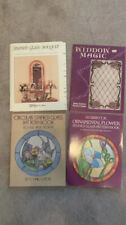 LOT OF 4 Stained Glass Lamps Pattern Books Pre-owned