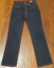 Ladies NYDJ Not Your Daughters Jeans Straight Leg Stretch Jeans Size US0 Aust.4