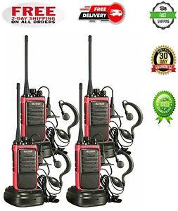 4 Set Long Range Walkie Talkie 50 Mile Two Way Radio Charge Headset Waterproof