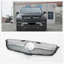 Front Grille Grill For Mercedes Benz W166 ML300 ML320 ML350 ML400 2012-15 SIL WO