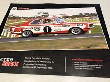 RACING PERFORMANCE POSTER HOLDEN PETER BROCK MOTOR CAR V8 COMMODORE ENGINE 2
