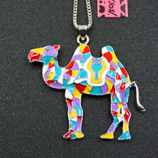 Animal Betsey Johnson Colorful Enamel Delicate Camel Pendant Women's Necklace