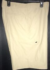 MENS CHAMPION WATER SHIELD MEDIA ZIP POCKET 100% POLYESTER KHAKI SHORTS SIZE30