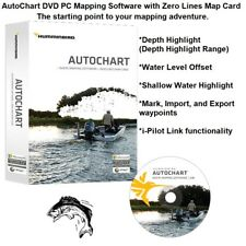 Humminbird Autochart DVD PC Mapping Software With Zero Lines Map Card