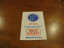 New England Collegiate Conference 1986/87 Men's Basketball Pocket Schedule - Bud