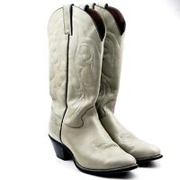 Kenny Rogers Womens Gray Pull-On Leather Stitched Cowboy Boots Sz US 10 M 40402