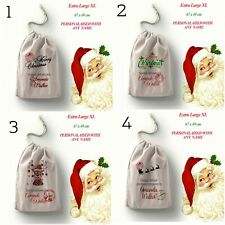 More details for personalised santa sack father christmas bag present xmas stocking gift