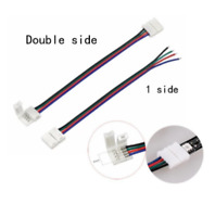 4Pin 10mm PCB Adapter Connector Cable for 5050 RGB LED Strip Light
