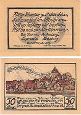 Alemania 50 Pfennig 1923 Notgeld Schonberg UNC Uncirculated banknote