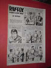 """SERGIO TARQUINIO-tavola originale pagina-1 episodio """"ray fox asso cow boys"""" 1953"""