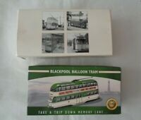 2x Atlas Collections Diecast Tram Blackpool Balloon & Feltham (UCC) Boxed