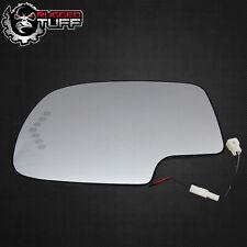 Driver Side Mirror Heated Signal Glass W Backing Fits Sierra Silverado Yukon +