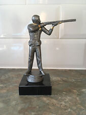 Clay Pigeon Shooting Trophy Award  **FREE ENGRAVING **  antique silver