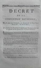 Décret formalités envoie de fonds ASSIGNATS ou especes Trésorie Nationale 1794