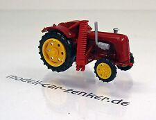 Busch Mehlhose 210004401 Traktor Famulus mit Mähbalken rot mit gelben Felgen