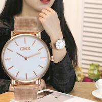 Women Girls Casual Quartz Warch Stainless Steel Band Strap Analog Wrist Watch