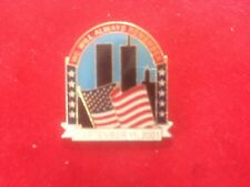 911 Commemorative Pin September 11 2001 Twin Towers Flag World Trade Center NEW