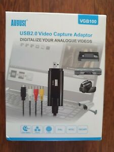 August VGB100 External USB Video Capture Card