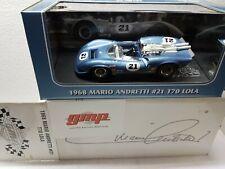 Lola T70 Mario Andretti #21 Can-Am 1968 Blu 1:18 Gmp
