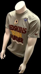 Nike Dri Fit Men's Washington Redskins Train Harder 2013 Gray Shirt NFL T-Shirt