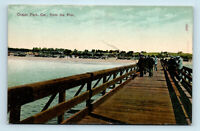Ocean Park, CA - EARLY 1900s FISHING FROM THE PIER VIEW - POSTCARD
