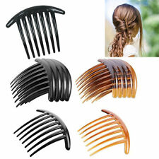 6 pieces Hair Comb French Twist Plastic Clip Hair Side Claw Clamp Pin Updo Party