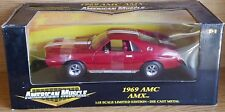 1/18 ERTL AMERICAN MUSCLE 1969 AMC AMX RED with WHITE STRIPES yd
