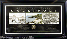 THE SPIRIT OF ANZAC LEGIONS OF LEGENDS GALLIPOLI CHEOPS PYRAMID FRAMED SAND ED.