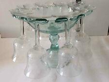 Présentoir à verres verre soufflé translucide vert Provence bas Languedoc XVIIIe
