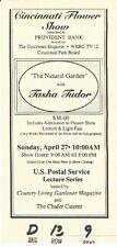 RARE Vintage Tasha Tudor Ticket to one of her lectures in Cincinnati OH