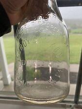 Vintage Leroy Dairy Co Williamson West Virginia WV Quart Milk Glass Bottle